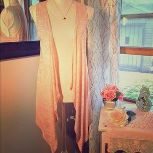 Beautiful Light Pink Knit Cardigan Duster 🌸